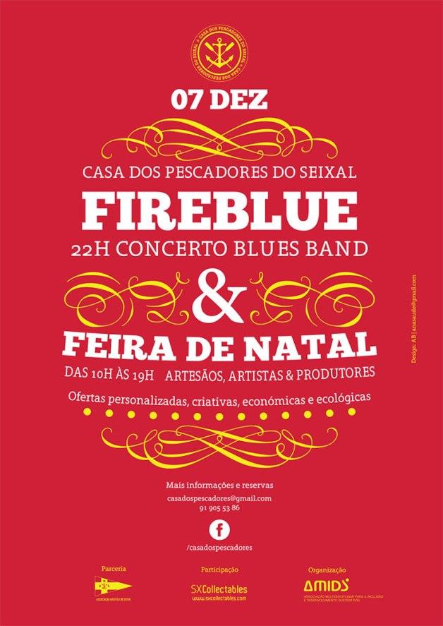 Feira de Natal e Concerto dos FireBlue no dia 7 de dezembro no Seixal!